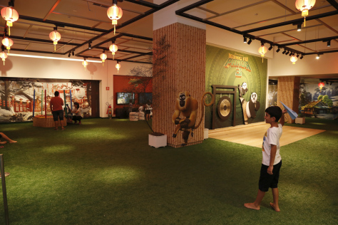 Arena Kung Fu Panda fica no JK Iguatemi até o dia 27 de março. (Foto: Divulgação)